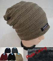 Insulated Knitted Slouch Beanie with Plush Lining [Double Stitch]